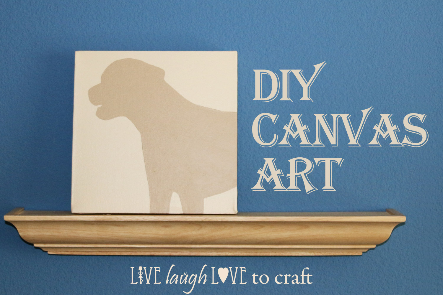 Diy Canvas Art How To Paint A Silhouette Portrait Live