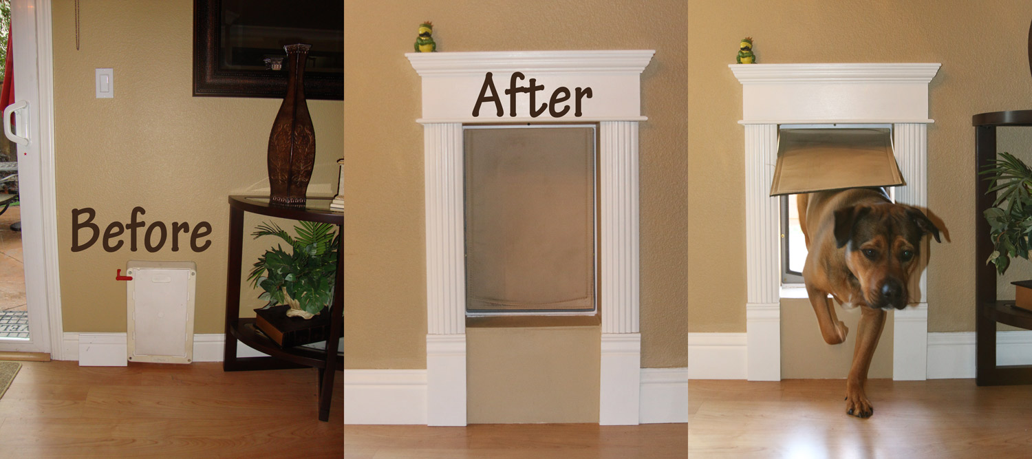 Custom Decorative Dog Door Frame Live Laugh Love To Craft