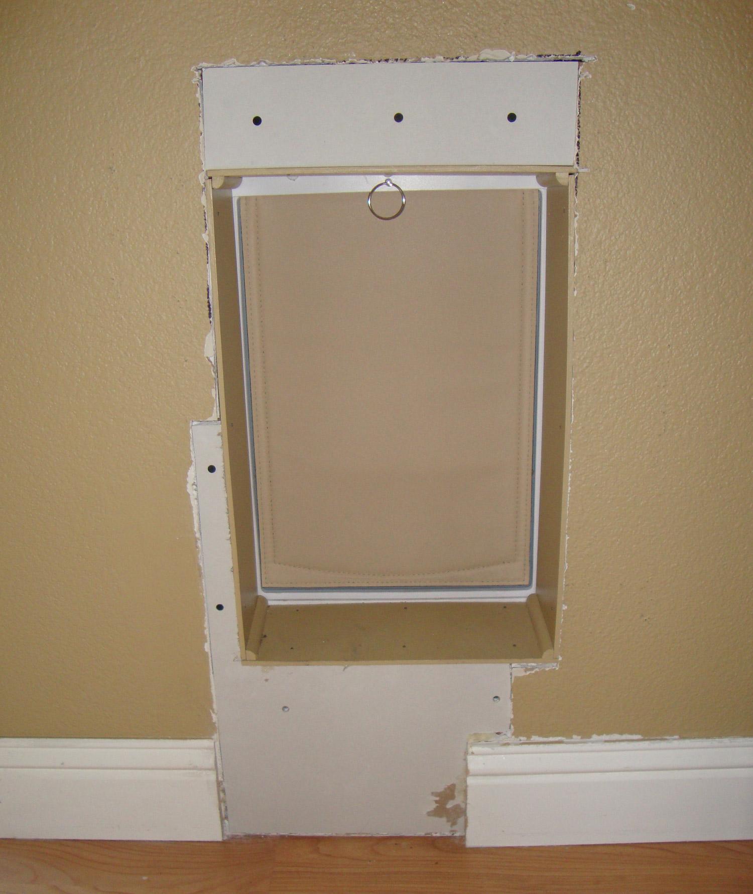 san doors install a door how installation wall galleries in dog walls to gallery antonio