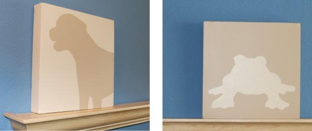 Diy Canvas Art How To Paint A Silhouette Portrait Live
