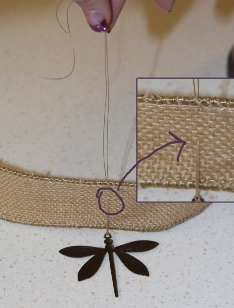 pull-thread-through-ribbon