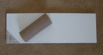 Blank Canvas & Burlap Roll