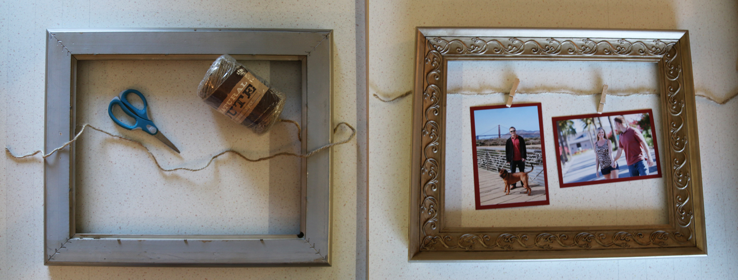 DIY Twine & Clothespin Picture Frame Makeover – Live Laugh Love to Craft