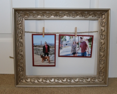 Decorative Twin & Clothespin Picture Frame Craft