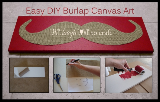 Easy DIY Burlap Canvas Art Craft