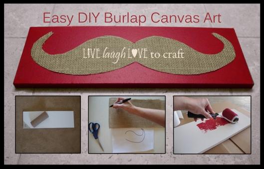 Easy DIY Burlap Canvas Art Craft