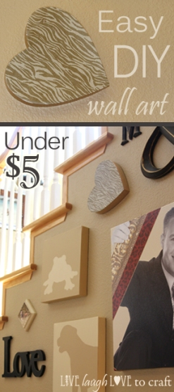 Easy DIY paper mache wall art craft idea