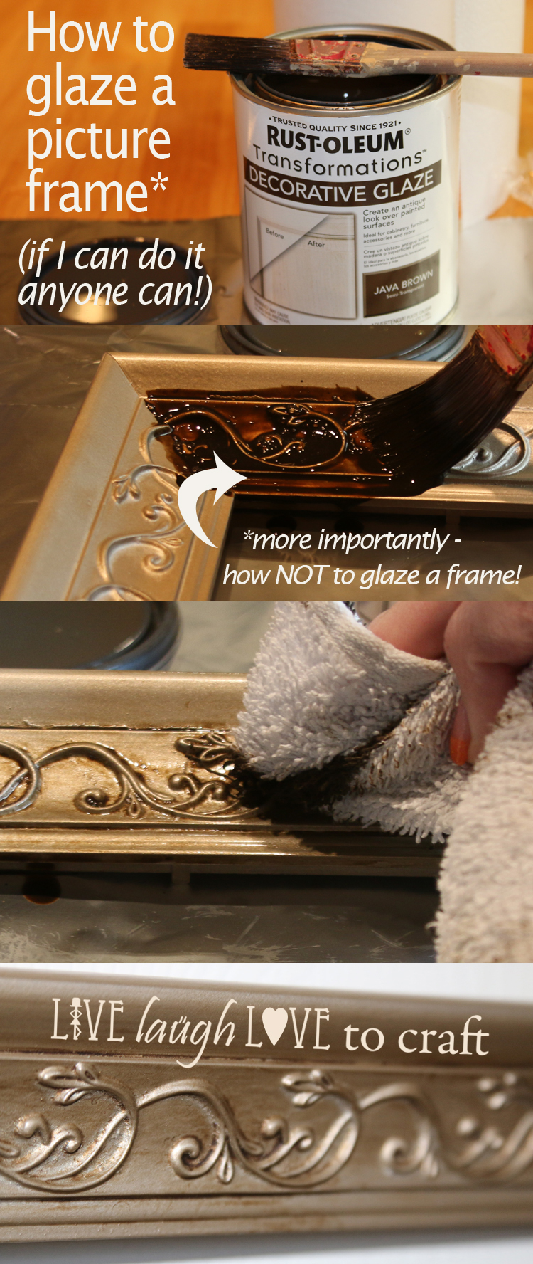 How to Glaze a Picture Frame (Simple Instructions with Pictures ...