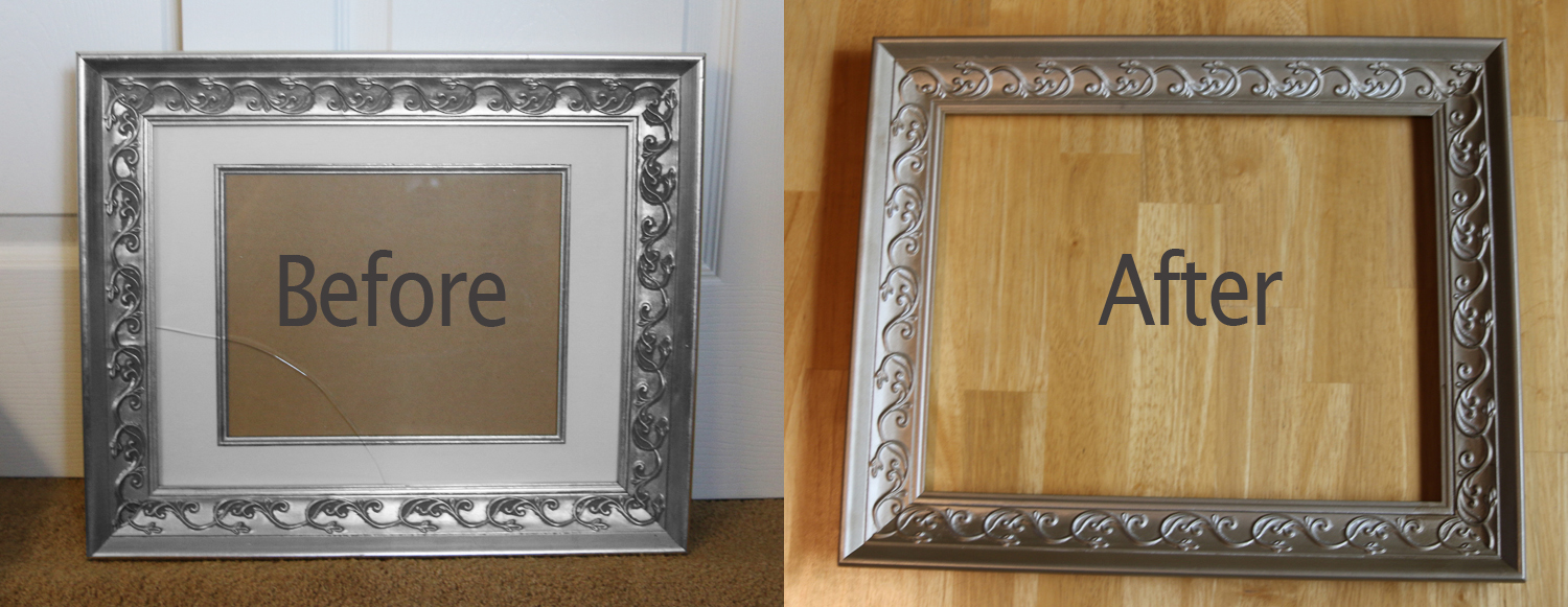 How to glaze a picture frame simple instructions with pictures picture frame before after spray paint jeuxipadfo Image collections