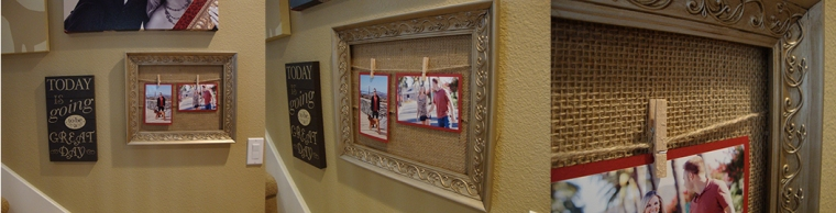 DIY twine frame craft