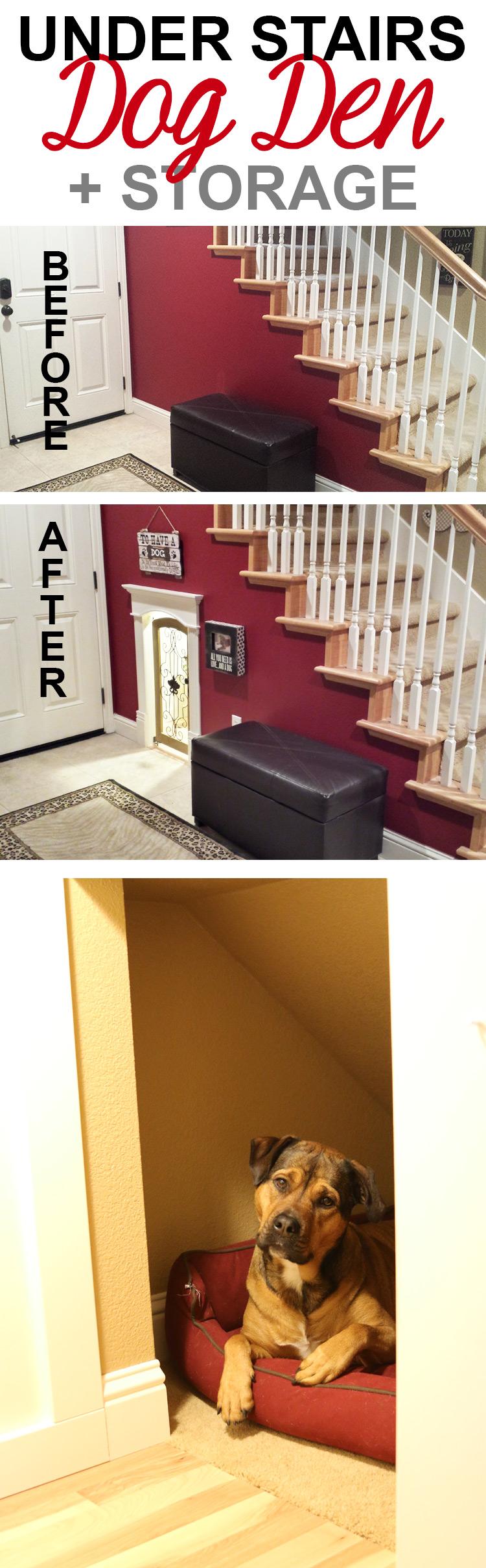 Add Under Staircase Dog Den Room Crate Storage