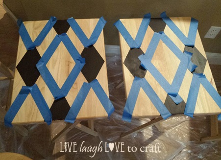 blog-tv-trays-tape-and-stain-diamond-pattern