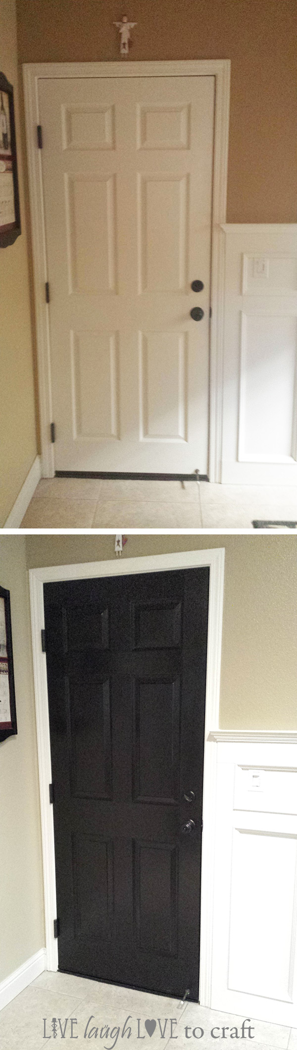 Blog Paint A Door Black White Before After