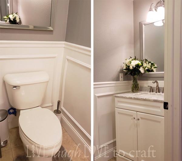 powder-room-makeover-gray-walls-wainscot